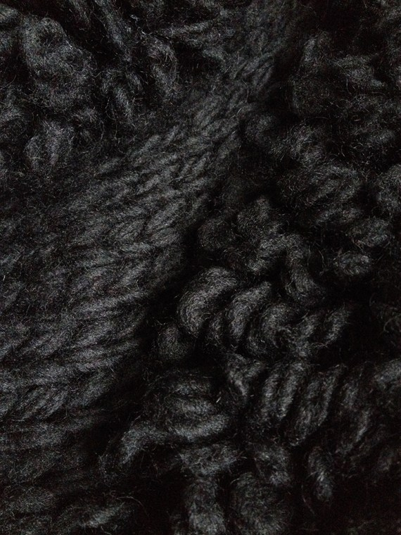 Yohji Yamamoto black 3D knitted cardigan 9963