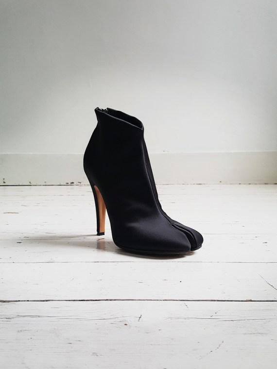 Maison Martin Margiela black satin tabi boots 2945