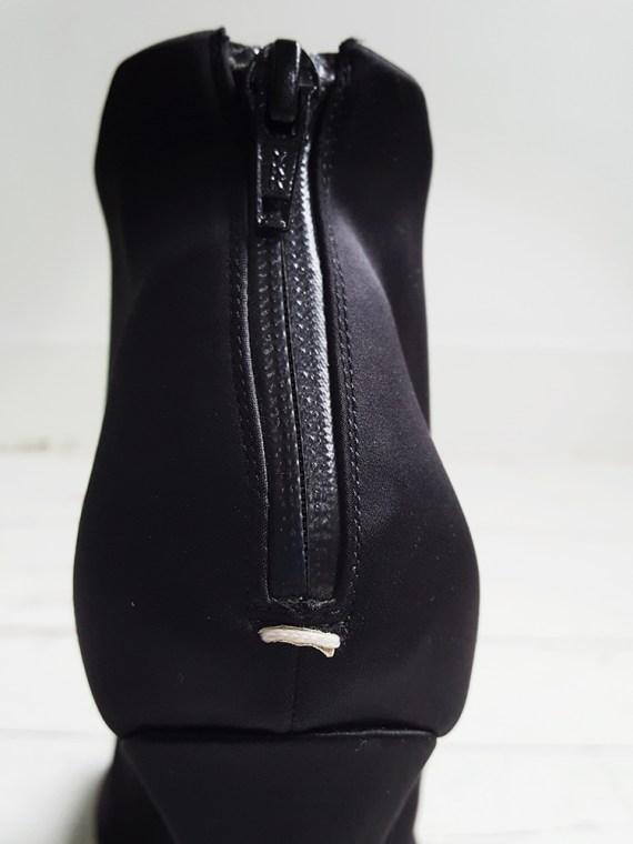Maison Martin Margiela black satin tabi boots 3154
