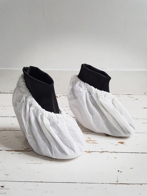 Maison Martin Margiela black satin tabi boots 4105