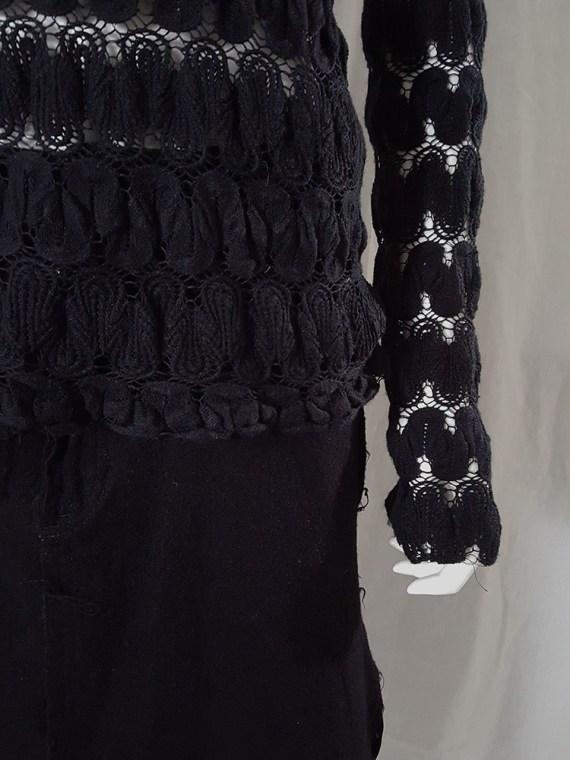 Dries Van Noten black curved knit jumper 131646