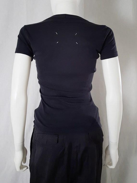 Maison Martin Margiela black flat t-shirt spring 1999 _130157