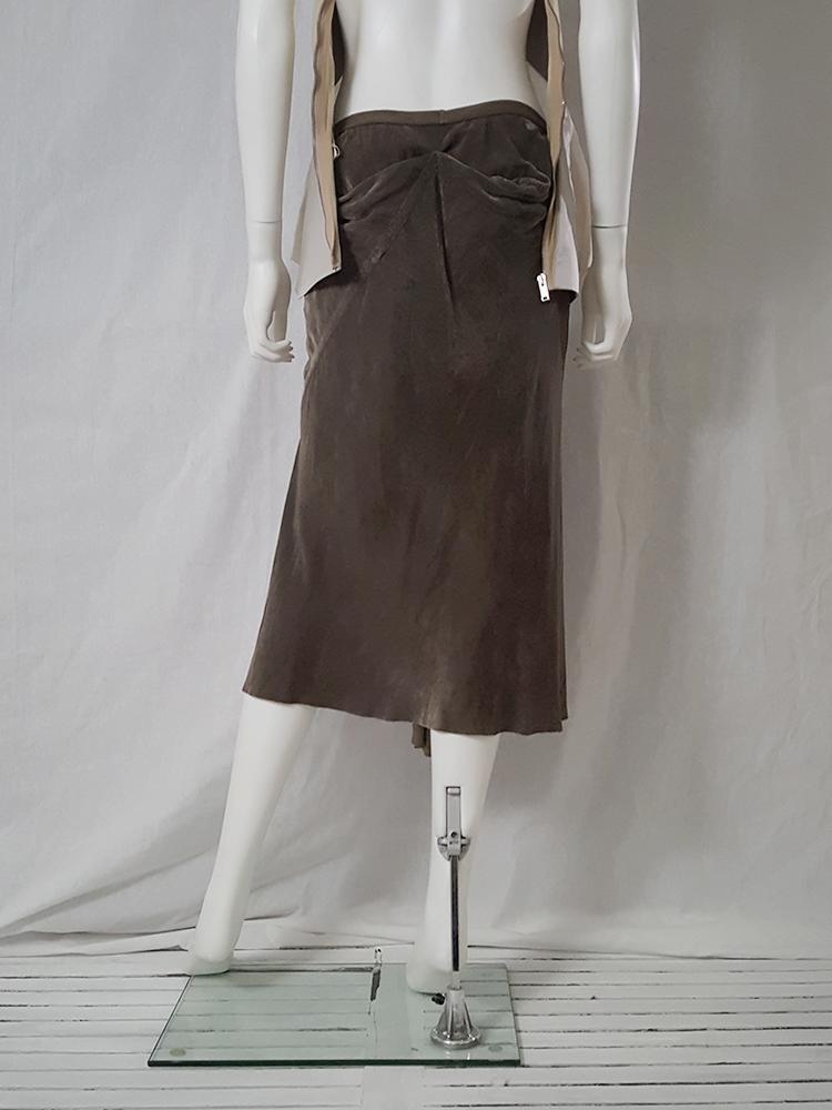 Rick Owens MOOG brown velvet skirt — fall 2005