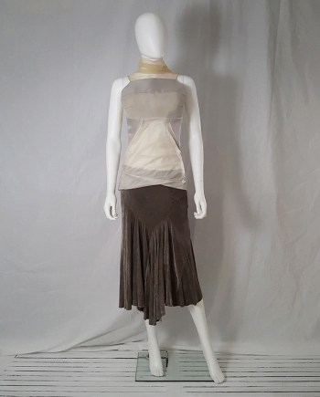 Rick Owens MOOG brown velvet skirt — fall 2005