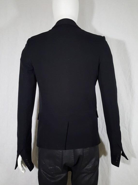 Ann Demeulemeester black blazer with cut panel runway fall 2011 _142727