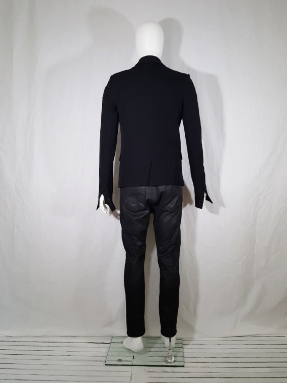 Ann Demeulemeester black blazer with cut panel runway fall 2011 _142742
