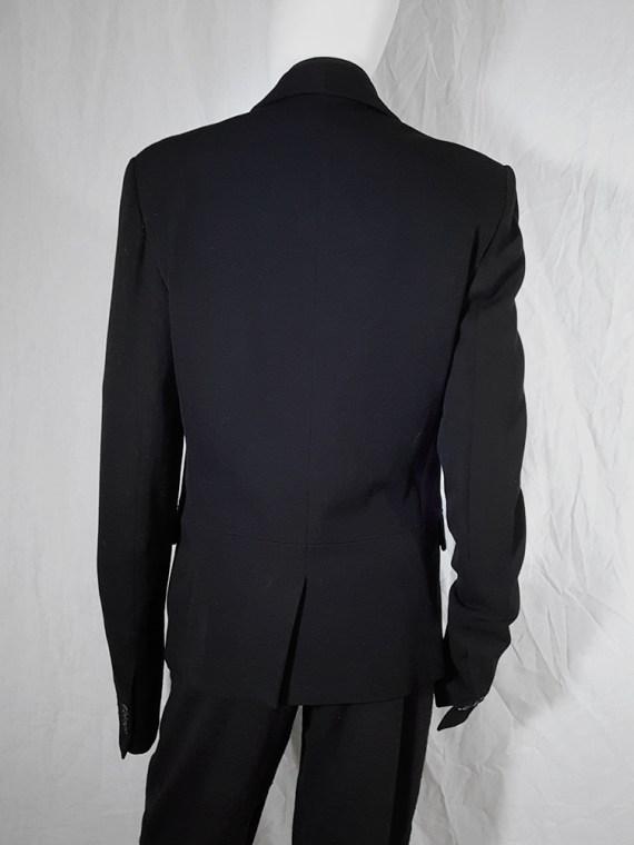 Ann Demeulemeester black blazer with cut panel runway fall 2011 _174021(0)