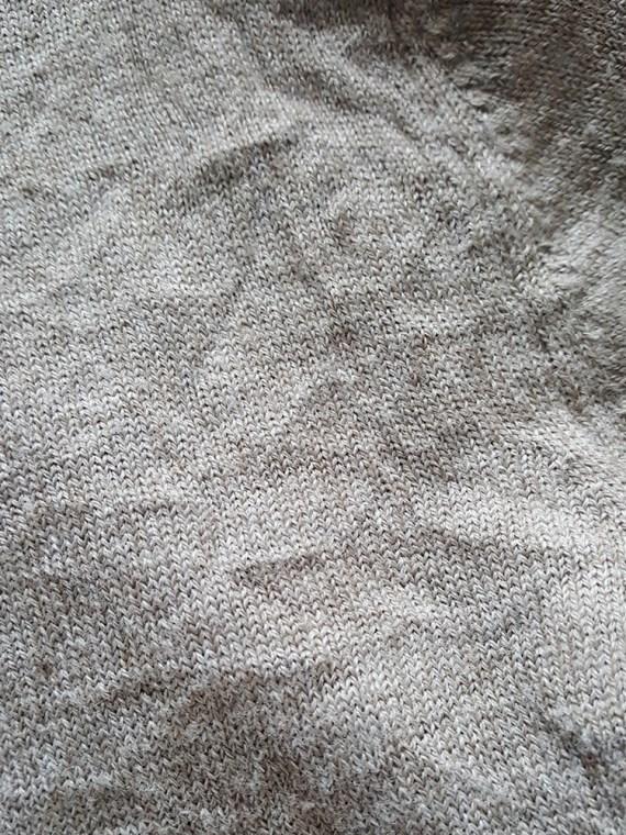 Maison Martin Margiela beige permanently creased turtleneck jumper_201942