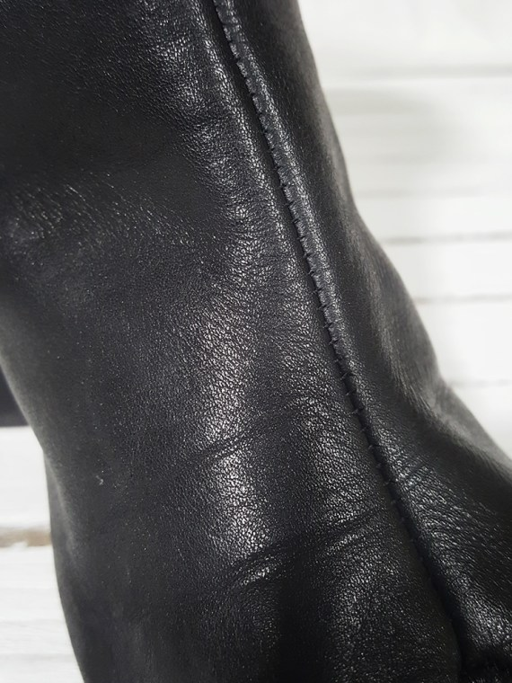 archive Maison Martin Margiela black leather tabi boots with block heel_151842