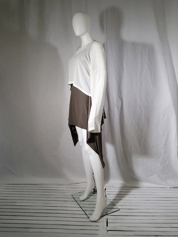 Ann Demeulemeester white silk blouse with back fringes 181052