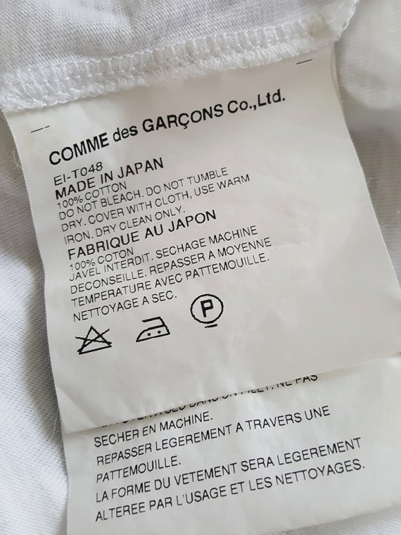 Comme des Garcons white longsleeve with back braid — spring 2003