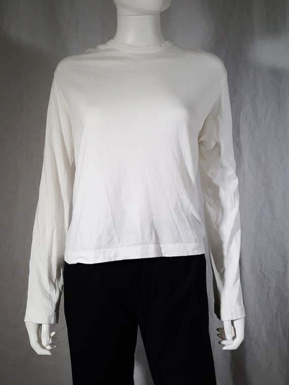 vintage Comme des Garcons white longsleeve with back braid spring 2003163043