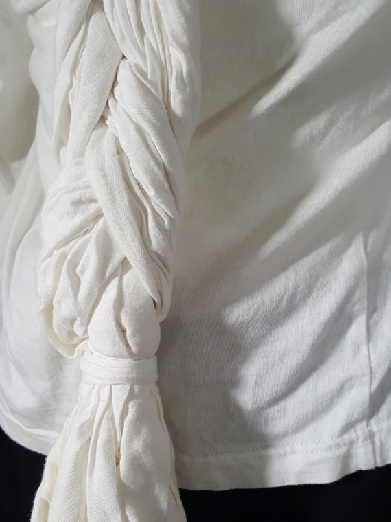 vintage Comme des Garcons white longsleeve with back braid spring 2003172619(0)