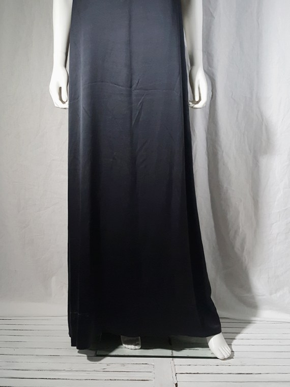vintage Maison Martin Margiela dark blue dress with exposed stitching spring 2002 190852