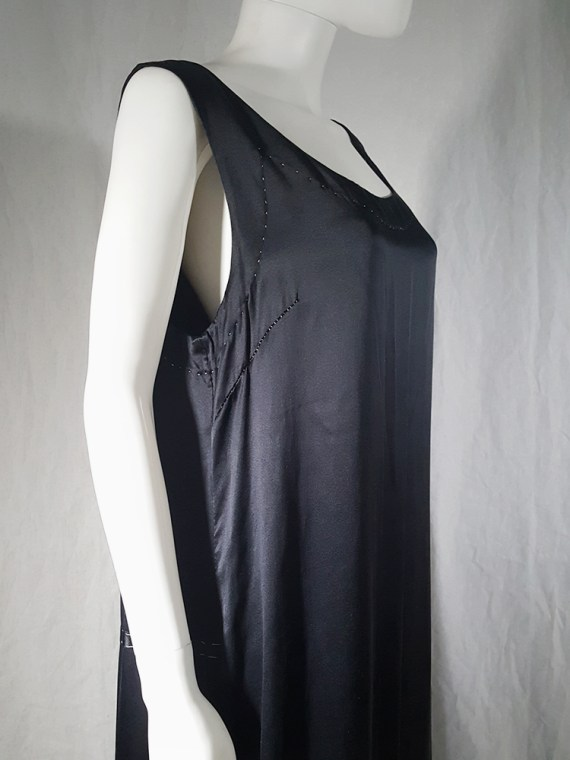 vintage Maison Martin Margiela dark blue dress with exposed stitching spring 2002 190942