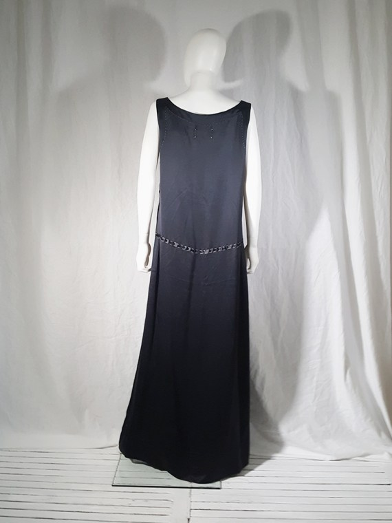 vintage Maison Martin Margiela dark blue dress with exposed stitching spring 2002 191158