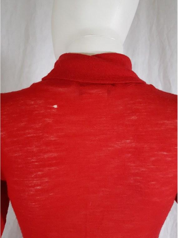 Ann Demeulemeester red knit maxi dress fall 1996 151901