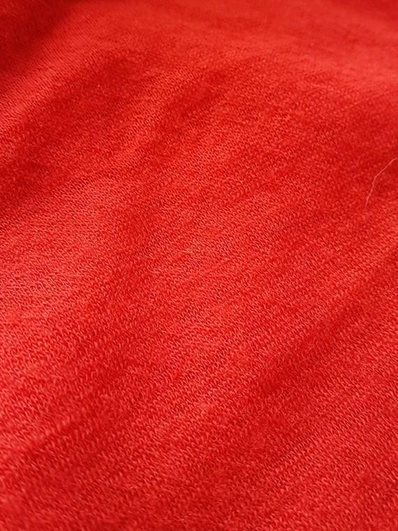 Ann Demeulemeester red knit maxi dress fall 1996 162055