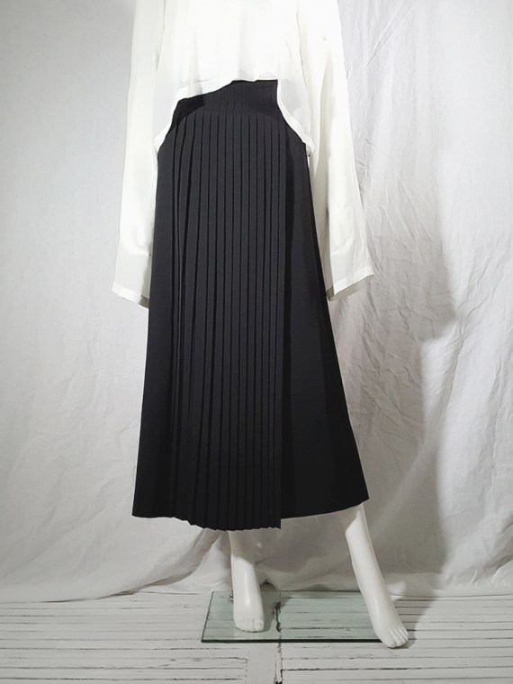 archive Dries Van Noten black front pleated skirt early 90s 162228