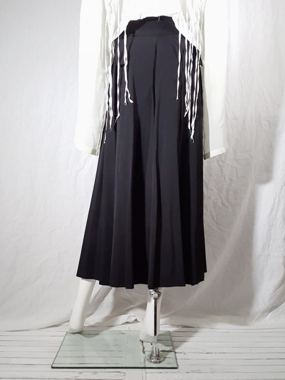 archive Dries Van Noten black front pleated skirt early 90s 162338