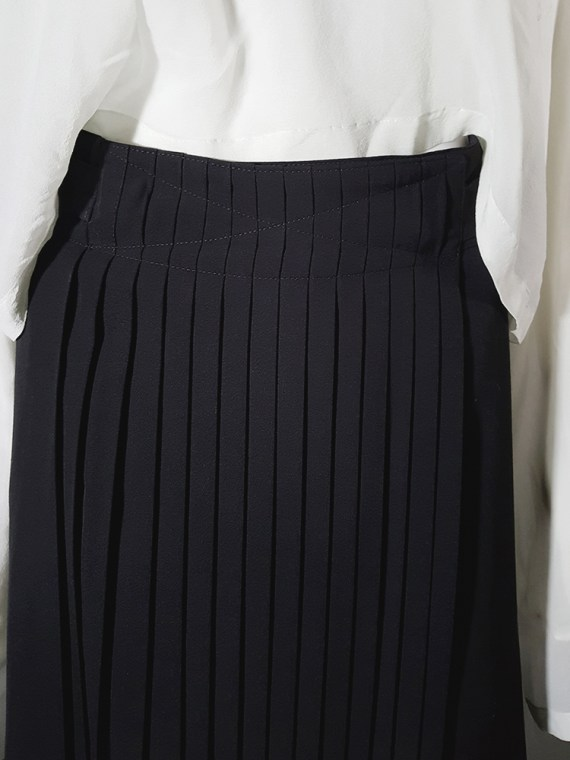 archive Dries Van Noten black front pleated skirt early 90s 162540(0)