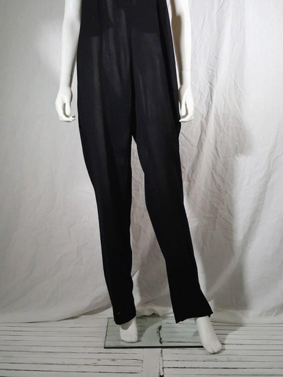 vintage 1990s Ann Demeulemeester black strapless jumpsuit 165414