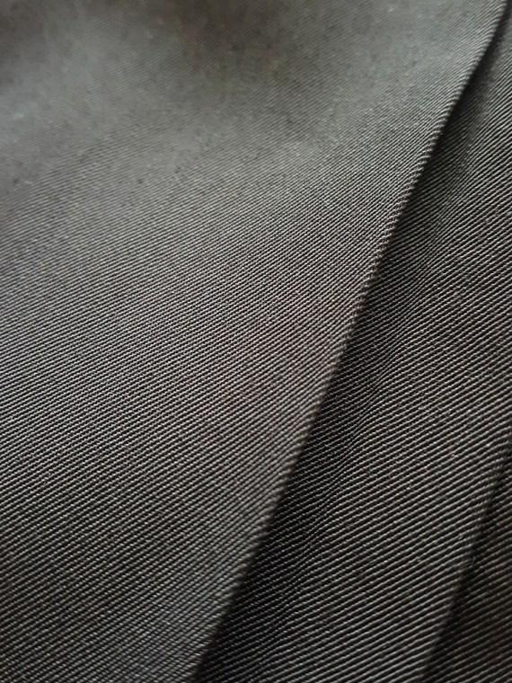 vintage Dries Van Noten black front pleated skirt early 90s 152155