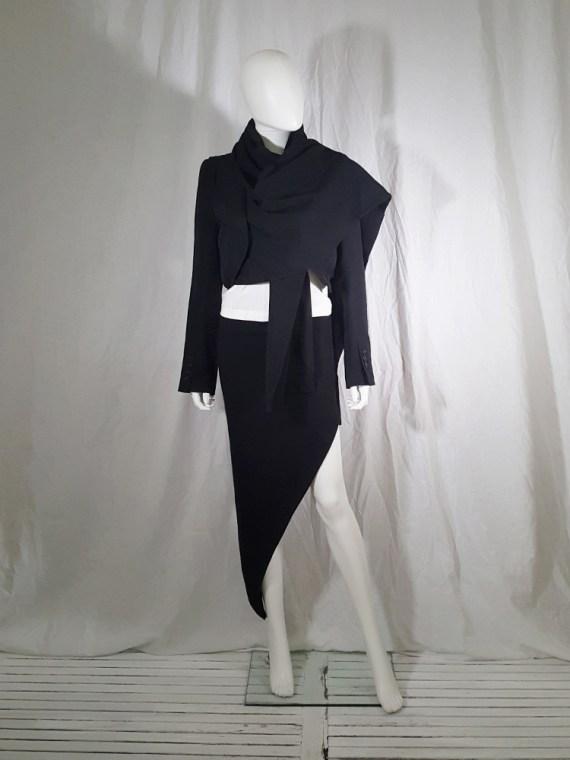 Ann Demeulemeester black draped shawl jacket — fall 2006