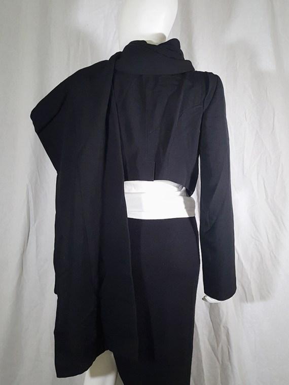 vintage Ann Demeulemeester black draped shawl jacket fall 2006 131548