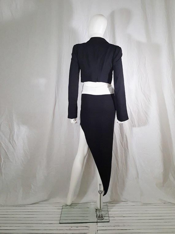 vintage Ann Demeulemeester black draped shawl jacket fall 2006 131715