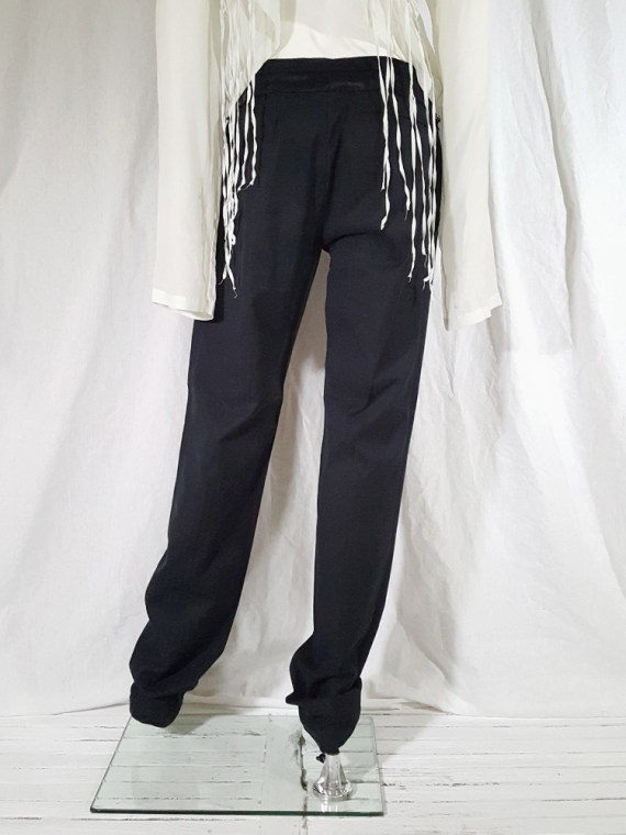 vintage Ann Demeulemeester black trousers with torn waist 142850(0)