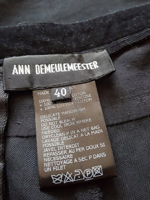 vintage Ann Demeulemeester black trousers with torn waist 160403