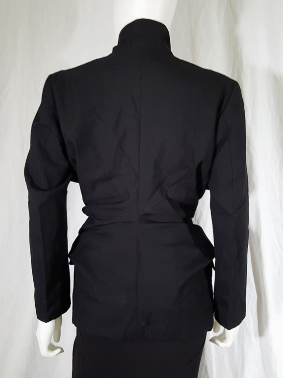 vintage Comme des Garcons black blazer with gathered waist fall 1990 144545