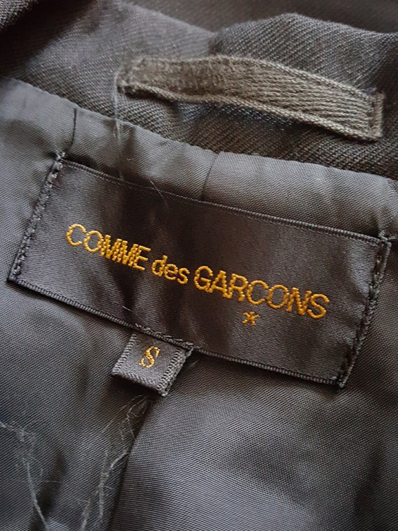 vintage Comme des Garcons black blazer with gathered waist fall 1990 160129