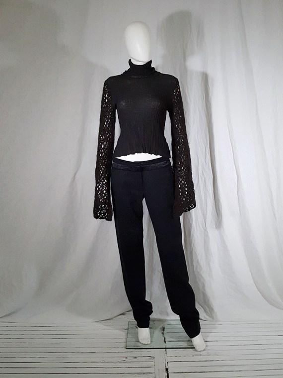 vintage Dries Van Noten black wide sleeved jumper 143131