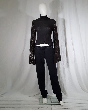 vintage Dries Van Noten black wide sleeved jumper