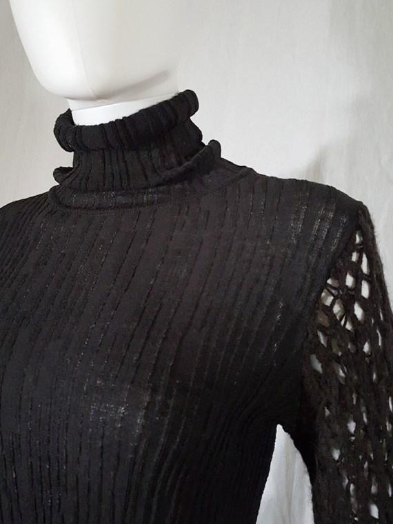 vintage Dries Van Noten black wide sleeved jumper 143233
