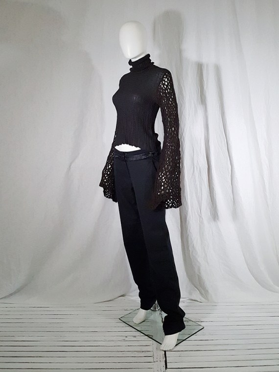 vintage Dries Van Noten black wide sleeved jumper 143308