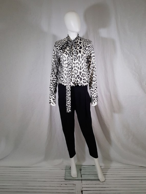 vintage Haider Ackermann leopard blouse with bowtie fall 2015 153247
