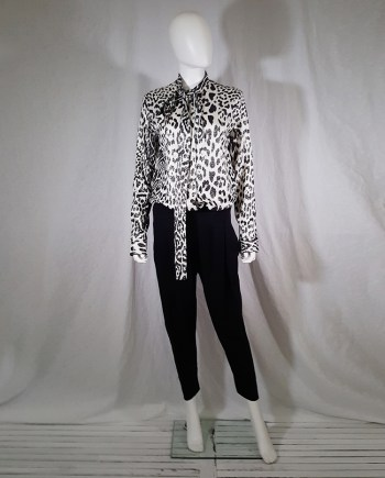 Haider Ackermann leopard blouse with bowtie — fall 2015