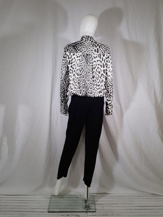 vintage Haider Ackermann leopard blouse with bowtie fall 2015 153429(0)