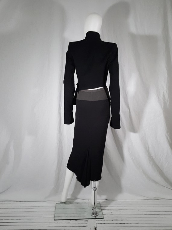 vintage Rick Owens TRUCKER black midi-length mermaid skirt fall 2003 144631
