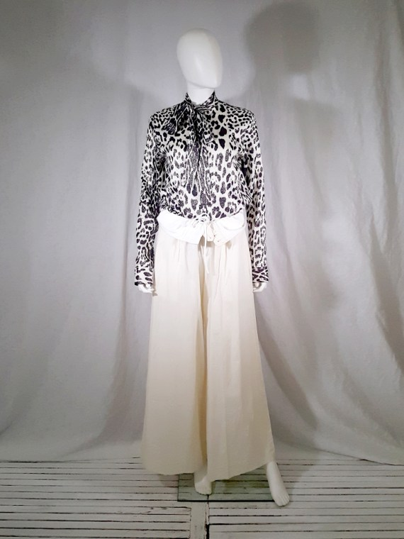 vintage Comme des Garcons white trousers with standing waist AD2001 spring 2002 154650(0)