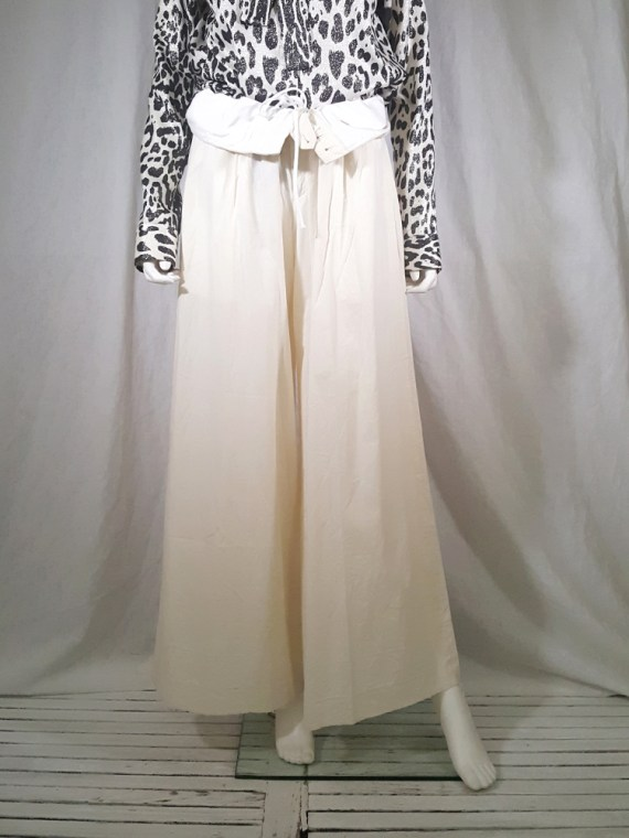 vintage Comme des Garcons white trousers with standing waist AD2001 spring 2002 154659(0)