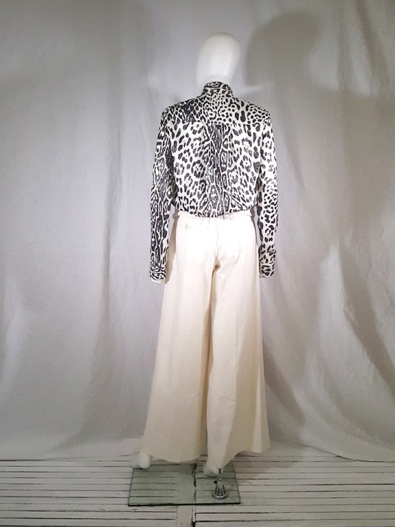 vintage Comme des Garcons white trousers with standing waist AD2001 spring 2002 154740(0)