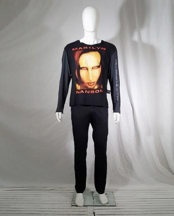 Lieve Van Gorp black Marilyn Manson jumper