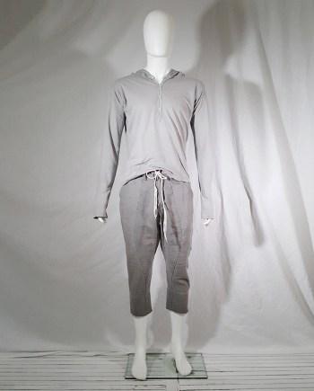 Nicolo' Ceschi Berrini grey lightweight hooded jumper