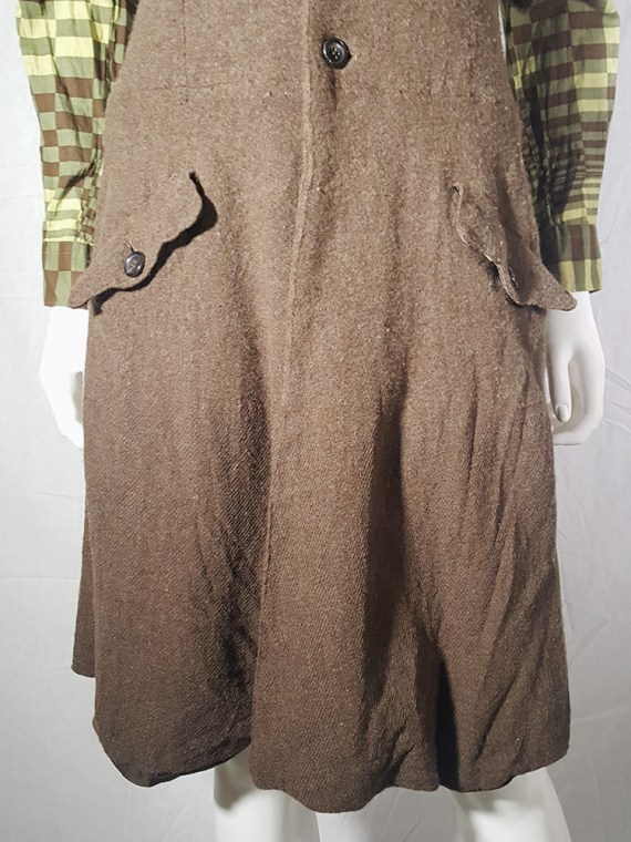 Comme des Garcons brown strapless button up dress fall 1994 170630