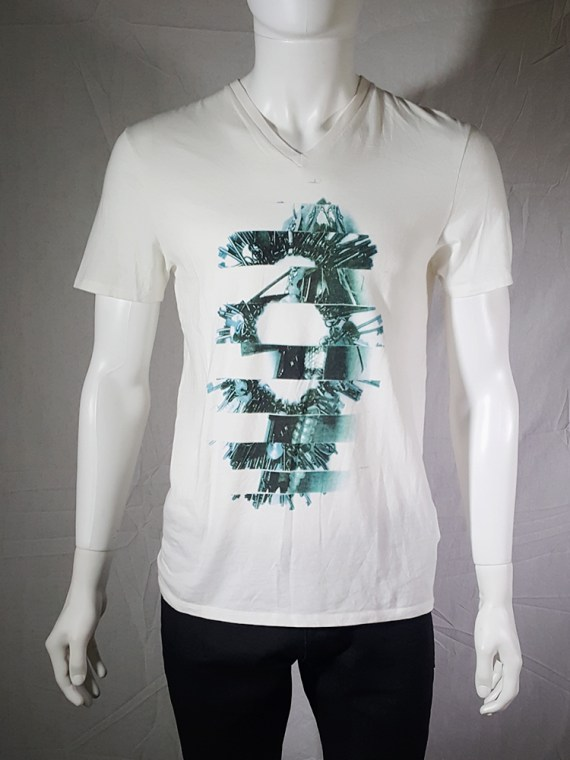 Maison Martin Margiela white t-shirt with key print fall 2009 143602(0)