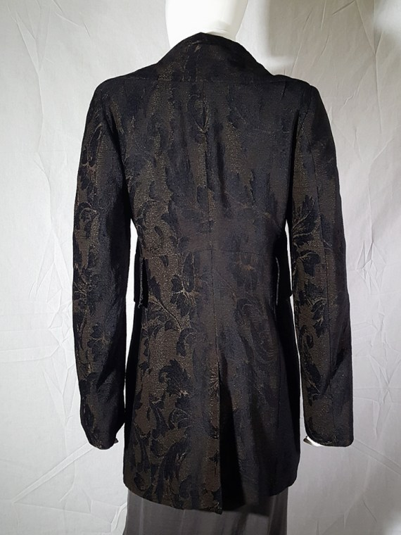 vintage Ann Demeulemeester brown brocade coat fall 1994 155838